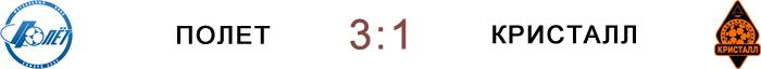 «Полет» 3:1 «Кристалл»